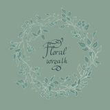 Vector floral wreath. Vector illustration. delicate floral wreath Stock Image