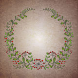 Vector floral wreath Stock Photos