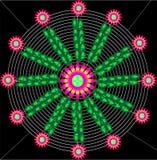 Vector floreciente del web Imagenes de archivo