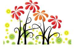 Vector flores Imagem de Stock Royalty Free
