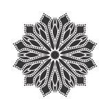 Vector flores bonitas e as folhas preto e branco monocromáticas do vintage isoladas Fotos de Stock