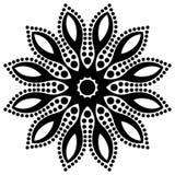 Vector flores bonitas e as folhas preto e branco monocromáticas do vintage isoladas ilustração do vetor