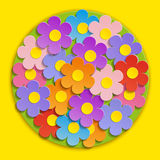 Vector - flores hermosas de la primavera Imagenes de archivo
