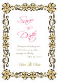 Vector flotal frame Silhouette for invitation and photo. EPS Royalty Free Stock Image