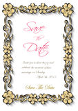 Vector flotal frame Silhouette for invitation and photo. EPS Royalty Free Stock Photos