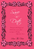 Vector flotal frame Silhouette for invitation and photo. EPS Stock Images