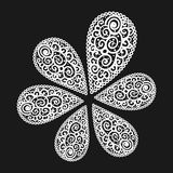 Vector flourish background. Black and white colored royalty free illustration