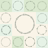 Vector flourish circle and frames Stock Photography