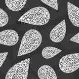 Vector flourish seamless pattern. Vector flourish background black and white colored royalty free illustration