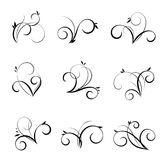 Vector flourishes and swirls collection. Decorative elements for design in vintage style Stock Images