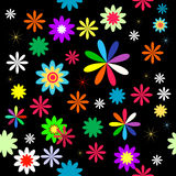 Vector with flower. Flowers on a black background Stock Images