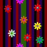 Vector with flower. Flowers on a black background Royalty Free Stock Photography