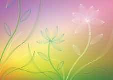 Vector Flower. A rainbow background with flowers royalty free illustration