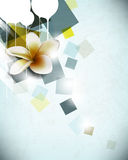 Vector flower in abstract background Stock Image