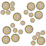 Vector flower abstract ornaments embroidery. Royalty Free Stock Image