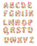 Vector flower alphabet Stock Images