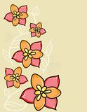 Vector flower background Stock Photography
