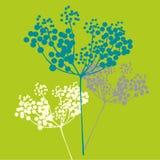 Vector flower background. Green Ornamental flower background Stock Illustration