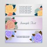 Vector flower background,banner Stock Images
