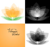 Vector flower background variations set Royalty Free Stock Photo
