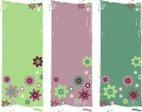 Vector flower borders Royalty Free Stock Photos