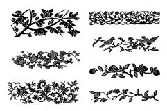 Vector flower branch decor Royalty Free Stock Images