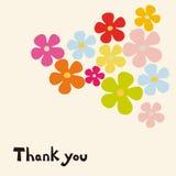 Vector flower card design Royalty Free Stock Photos