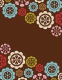 Vector flower card design Stock Image