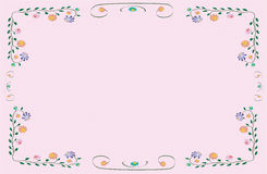 Vector flower classic colorful frame Royalty Free Stock Photography