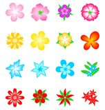 Vector Flower Collection Royalty Free Stock Photo