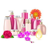 Vector Flower Cosmetics Stock Images