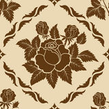 Vector flower damask pattern element stock illustration