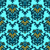Vector Flower Damask Seamless Pattern Stock Photography