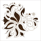 Vector flower design,. Flower design, vector background, floral template stock illustration