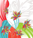 Vector flower design for greeting card Stock Photography