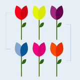 The Vector flower designs. Vector icons, Valentine's Day, wedding and marriage.. Vector Illustration Design Royalty Free Stock Image