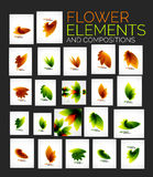 Vector flower elements set Stock Photography