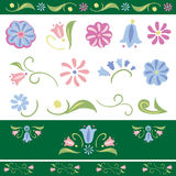 Vector Flower elements set Royalty Free Stock Images