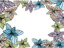 Vector flower frame Stock Image