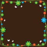 Vector flower frame Royalty Free Stock Photos