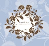 Vector flower frame Stock Photos