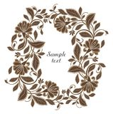 Vector flower frame Royalty Free Stock Image