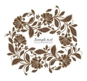 Vector flower frame Royalty Free Stock Images
