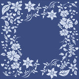 Vector flower frame Royalty Free Stock Photo