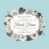 Vector Flower Frame label Royalty Free Stock Images