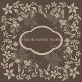 Vector flower frame Stock Photo