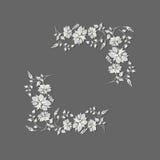 Vector flower frame Royalty Free Stock Image