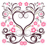 Vector flower heart. Trendy abstract vector flower heart Stock Photography