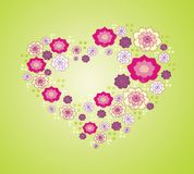 Vector flower heart Royalty Free Stock Photos