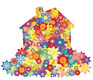 Vector flower house Stock Photo